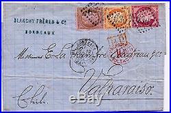 France Classiques Lettre France-chili. 1875. Ceres