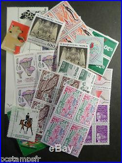 FRANCE, LOT FACIALE 500 EURO pour 350 EURO, timbres neufs, PORT OFFERT