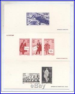 FRANCE Lot complet de 700 épreuves gravures en 13 volumes 1995 à 2007 TTB neuf