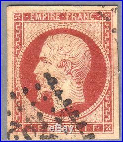 FRANCE MAURY N° 18 Superbe Timbre 1853-60 Pas de prix de réserve