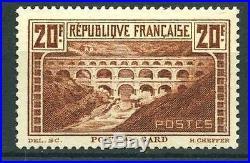 FRANCE N° 262A PONT DU GARD CHAUDRON TYPE I NEUF xx TTB