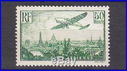 France P. A. 1936 50f. Vert Jaune-ntb-cote2000 Euros-voir Scan-t053
