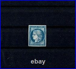 FRANCE STAMP TIMBRE 8f CERES 20c BLEU S. JAUNATRE DURRIEU 1862 NEUFxx TTB V867