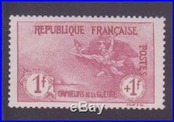 FRANCE STAMP TIMBRE N° 154 ORPHELINS 1F+1F CARMIN NEUF xx TTB, SIGNE