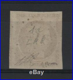 FRANCE STAMP TIMBRE N° 1a CERES 10c BISTRE BRUN 1850 OBLITERE LUXE SIGNE T351
