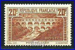 FRANCE STAMP TIMBRE N° 262 Aa PONT DU GARD CHAUDRON CLAIR NEUF XX TTB