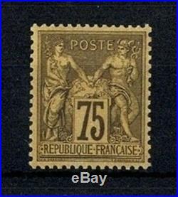 FRANCE STAMP TIMBRE N° 99 SAGE 75c VIOLET SUR ORANGE NEUF xx TTB SIGNE V564