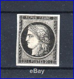 FRANCE STAMP TIMBRE YVERT N° 3a CERES 20c NOIR SUR BLANC NEUF x TB T131