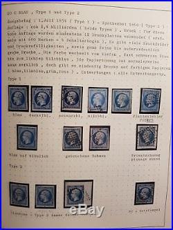 FRANCE collection classique 35 Empire 14 timbres filet dencadrement bloc lettre