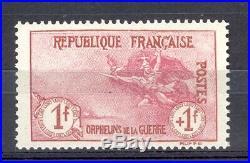 FranceOrphélins de la Guerre, Yvert 154. Frais/bonne centrage Cote 1700 euros
