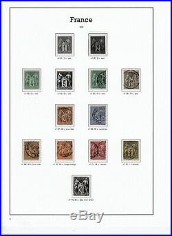 France 1849/1898 Collection bien avancée timbres oblitérés COTE 4850 def