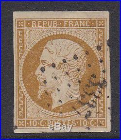 France 1852. N°9 Bistre-jaune Oblitere Et Tres Beau 800