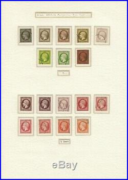 France 1860/1900 Collection de 200 essais de couleurs et projets COTE 8295