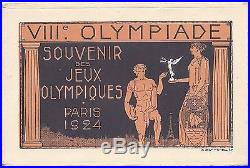 France 1924 set of eight 15c Petain stationery card for Olympic Games in folder