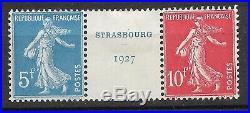 France 1927 Exposition Philatélique de Strasbourg N°242A Neuf / TTB
