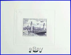 France. Air ()Yv 28. 1949. 100 fr violette ESSAI DE artiste. MAGNIFIQUE