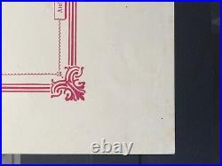 France Bloc feuillet BF 1 neuf Signé Calves + certificat. Expo Paris 1925