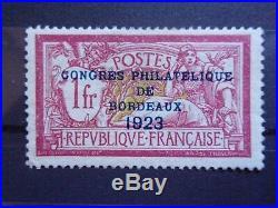 France Exposition De Bordeaux N° 182 Neuf Gomme Sans Charniere Ni Trace B. C