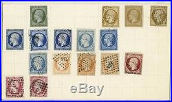 France Mint and Used Selection of early Stamps on Six Album Pages