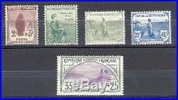 France Orphélins de la Guerre, Yvert 148-152. Frais. Cote 950 euros