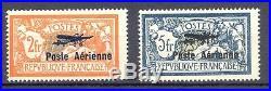 France Poste Aérienne, Yvert 1 + 2, sans charnière. Signé. Cote 950 euros