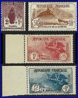 France Série 4 valeurs YT N°229/232 Orphelins de Guerre NEUF LUXE, 1926-27