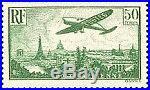 France Timbre Stamp Avion N°14 Avion Survolant Paris 50f Neuf XX Ttb
