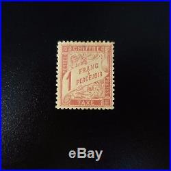 France Timbre Taxe N°39 (rousseur) Neuf Gomme D'origine Mnh Cote 1750
