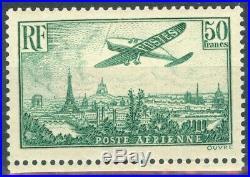 France, timbre Poste Aérienne N° 14b neuf, TB, signé Calves et Brun