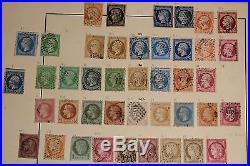 Frankreich 1849-1941, große Sammlung auf Vordruckblättern 700958