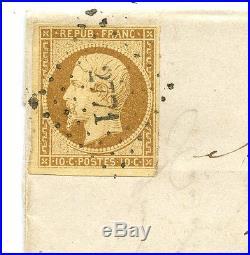 Frankreich Brief Sacquenay Selongey 1853