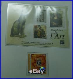 Frankreich umfangreiche Sammlung postfrisch 1986-1999 im Vordruckalbum