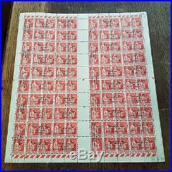 Guerre N° 4 dunkerque feuille de 50 paires signé brun Pièce d exposition