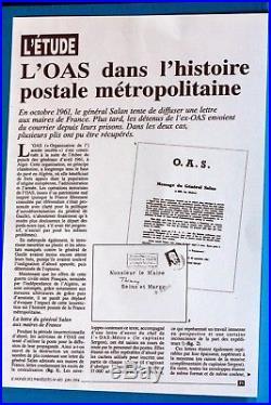 Historique Lettre Saisi General Salan Oas Algerie Francaise Aux Maires De France