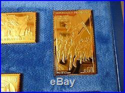 Hommage à la liberté collection du bicentenaire timbres argent massif et or fin