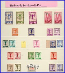 Jamais vue sur le net, tres rare, Collection des SERVICE1942 à 2016, cote ENORME