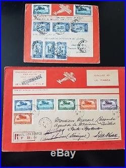 LOT #289 FRANCE COLONIES ++ collection airmail aviation lettres covers 1er vols