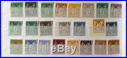 LOT #330-22 FRANCE collection complète timbres type sage Granet dt non émis n°73