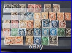 LOT #85 FRANCE giga collection timbres dont ceres en multiple en 12 albums Yvert