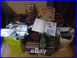 LOT DE 138 ALBUMS TIMBRES FRANCE/EUROPE/MONDE N//obl (+ de 100000 timbres)
