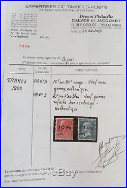 LOT ÉTOILE-35 FRANCE mythiques timbres PA 3 + PA 4  bon centrage certificat