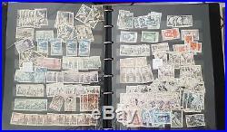LOT, VRAC de timbres de France dans 5 albums et boite. Commémoratifs, courants