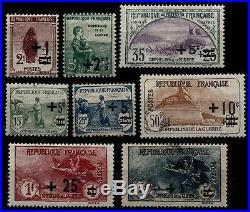 L'ANNÉE 1922 Complète, Neufs = Cote 530 / Lot Timbres France n°162 à 169