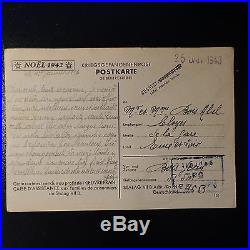 Lettre Prisonnier De Guerre Stalag VII B Noel 1942 Kriegsgefangenenpost Pow