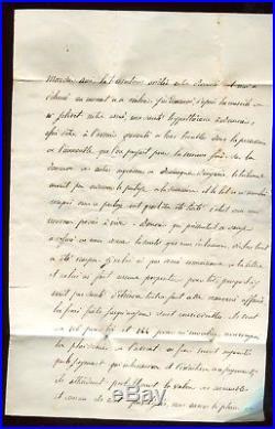 Lettre (avec texte) de Ygrande d'Allier pour Paris en Février 1849 N393