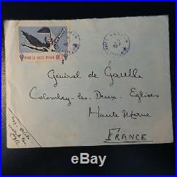 Libération Général De Gaulle Vignette Pour Le Salut Public Lettre Cover