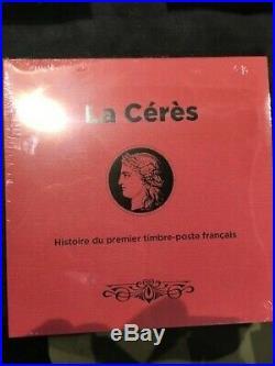 Livre Cérès histoire premier timbre poste avec bloc feuillet salon automne 2019