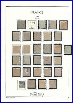 Lot 28 timbres classiques France dentelés Neuf Type Sage II NsousU IIIe Répub