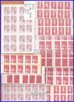 Lot De 1000 Tvp Rouge Lettre Prioritaire En Carnets 10-12-20 Timbres