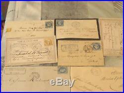 Lot De 30 Lettres Classiques De France Marque Postale Ceres Napoleon